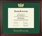 Lesley University Gold Embossed Diploma Frame in Studio