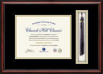 "Custom Tassel Document Frame - 8.5"" x 11"" horizontal document in Southport"