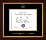 Gold Embossed Certificate Frame in Murano