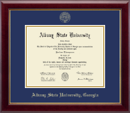 Albany State University in Georgia Gold Embossed Diploma Frame in Gallery