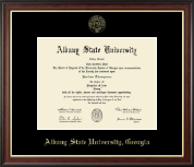 Albany State University in Georgia Gold Embossed Diploma Frame in Studio Gold