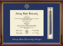 Tassel Edition Diploma Frame in Southport Gold