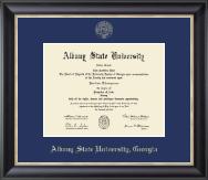 Albany State University in Georgia Gold Embossed Diploma Frame in Noir