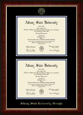 Albany State University in Georgia Double Diploma Frame in Murano