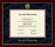 Arcadia University Gold Engraved Medallion Diploma Frame in Sutton