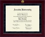 Arcadia University Millennium Gold Engraved Diploma Frame in Cordova