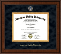 American Public University Presidential Masterpiece Diploma Frame in Madison