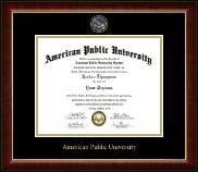 American Public University Masterpiece Medallion Diploma Frame in Murano