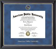 American Public University Regal Edition Diploma Frame in Noir