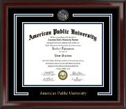 American Public University Showcase Edition Diploma Frame in Encore