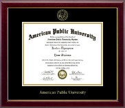 American Public University Gold Embossed Diploma Frame in Gallery