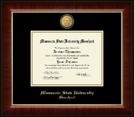 Minnesota State University Moorhead 23K Medallion Diploma Frame in Murano