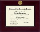 Minnesota State University Moorhead Century Gold Engraved Diploma Frame in Cordova
