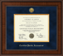 Presidential Gold Engraved Certificate Frame in Madison