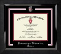 Bucky Badger Diploma Frame in Eclipse