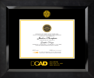 Gold Embossed Diploma Frame in Eclipse