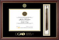 Delaware College of Art and Design Tassel Edition Diploma Frame in Newport
