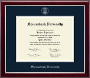 Shenandoah University Silver Embossed Diploma Frame in Gallery Silver