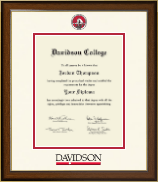 Davidson College Dimensions Diploma Frame in Westwood
