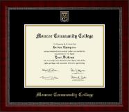 Monroe Community College Masterpiece Medallion Diploma Frame in Sutton