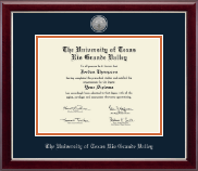 Silver Engraved Medallion Diploma Frame in Gallery Silver
