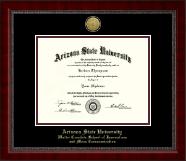 Arizona State University Gold Engraved Medallion Diploma Frame in Sutton