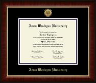 Iowa Wesleyan University Gold Engraved Medallion Diploma Frame in Murano