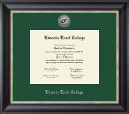 Silver Engraved Medallion Diploma Frame in Noir
