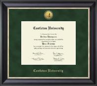 Castleton University Gold Engraved Medallion Diploma Frame in Noir