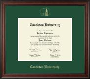 Castleton University Gold Embossed Diploma Frame in Studio