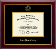 Saint Paul College Gold Embossed Diploma Frame in Gallery