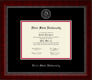 Dixie State University Silver Embossed Diploma Frame in Sutton