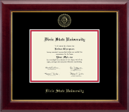 Dixie State University Gold Embossed Diploma Frame in Gallery