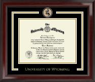 University of Wyoming Spirit Medallion Diploma Frame in Encore