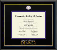 Dimensions Diploma Frame in Onyx Gold