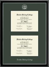 Double Diploma Frame in Onexa Silver