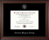 Albertus Magnus College Silver Embossed Diploma Frame in Studio