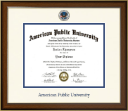 American Public University Dimensions Diploma Frame in Westwood