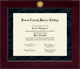 Millennium Gold Engraved Diploma Frame in Cordova