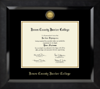Gold Engraved Medallion Diploma Frame in Eclipse