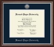 Howard Payne University Silver Engraved Medallion Diploma Frame in Devonshire