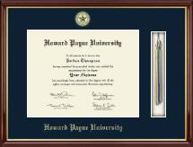 Howard Payne University Tassel Edition Diploma Frame in Southport Gold