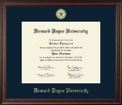 Howard Payne University Gold Embossed Diploma Frame in Studio