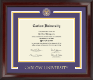 Carlow University Showcase Edition Diploma Frame in Encore