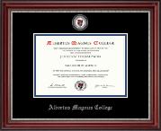 Albertus Magnus College Masterpiece Medallion Diploma Frame in Kensington Silver