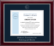 Silver Embossed Certificate Frame in Gallery Silver