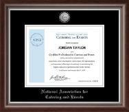 Silver Engraved Medallion Certificate Frame in Devonshire