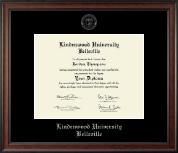 Lindenwood University-Belleville Silver Embossed Diploma Frame in Studio