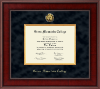 Green Mountain College Presidential Gold Engraved Diploma Frame in Jefferson