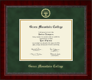Green Mountain College Gold Embossed Diploma Frame in Sutton
